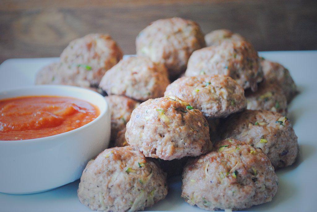 Baked Italian Zucchini Meatballs