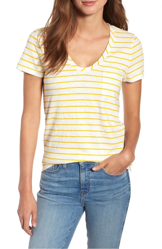Rounded v neck tee