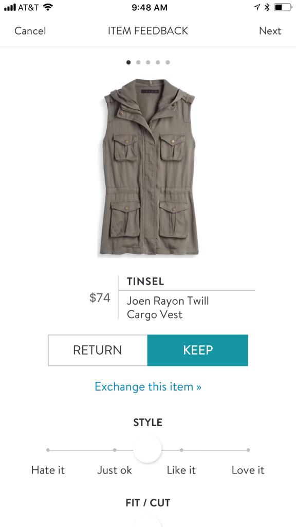 Tinsel Joen Rayon Twill Cargo Vest
