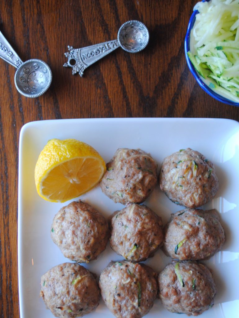 Greek Zucchini Meatballs