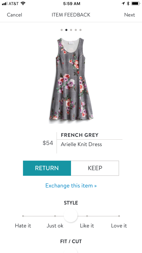 French Grey Arielle Knit Dress