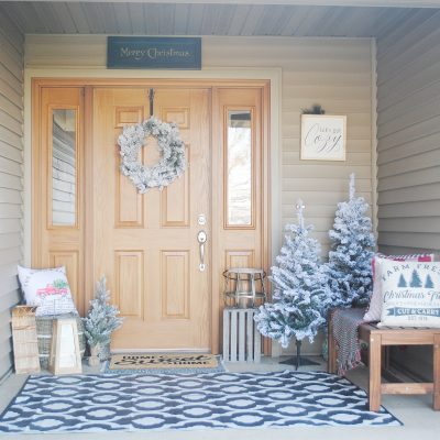 Winter Front Porch Reveal