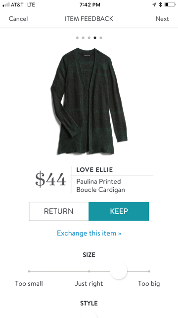 Love Ellie Paulina Printed Cardigan
