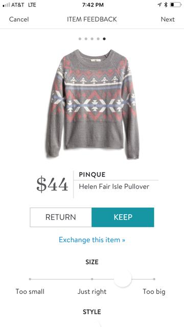 Pinque Helen Fair Isle Pullover