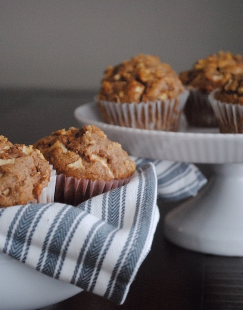 Easy, Whole Wheat Apple Muffins