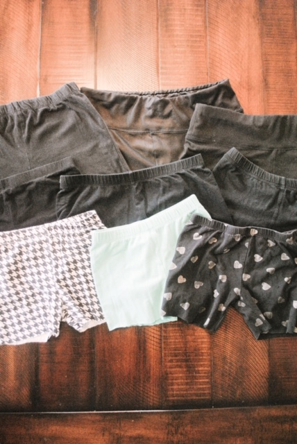 Simple Leggings #MomHack for Cartwheel shorts: