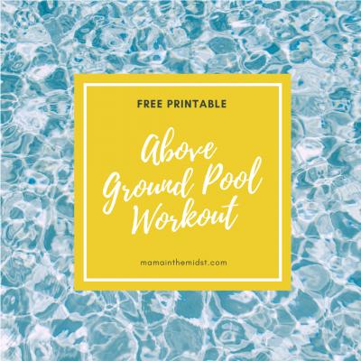 Above Ground Pool Workout: Free Printable