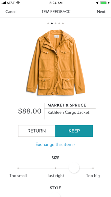 Market And Spruce  Kathleen Cargo Jacket