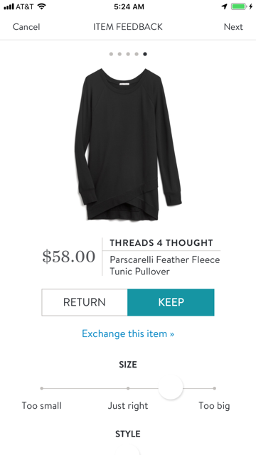 Threads 4 Thought Parscarelli Feather Fleece Tunic Pullover