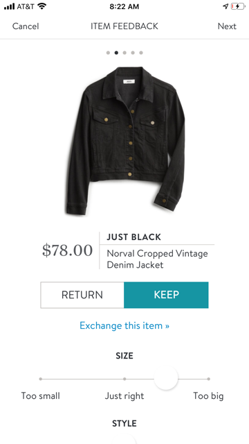 Just Black Norval Cropped Vintage Denim Jacket