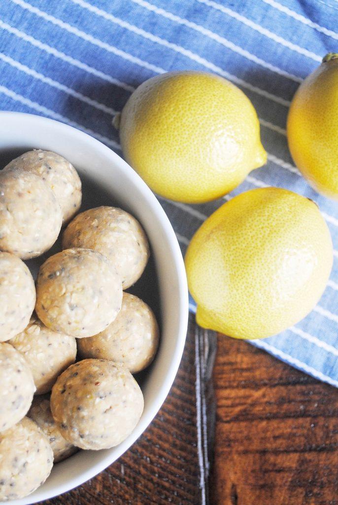 Lemon Chia Seed Protein Balls